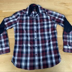Victorinox Swiss Army Plaid Check Shirt Black Red